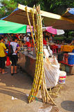 Sugar Cane Drink Stall Stock Image