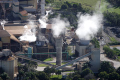 Sugar cane factory. Aerial of Australian sugar cane factory in Queensland Royalty Free Stock Photography