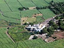 Sugar cane factory stock image