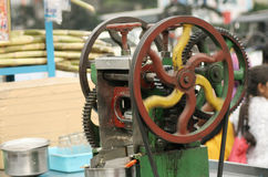 Sugar cane juice machine,india Stock Photos