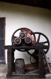 Sugar cane mash machine. Portrait of a machine used to mash sugar cane Royalty Free Stock Photography