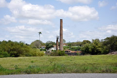 Sugar cane mill and chimney Royalty Free Stock Image