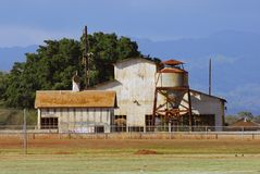 Sugar Cane Plantation Shed. Located in Waipahu, Hawaii, an abandoned sugar cane plantation shed Royalty Free Stock Images