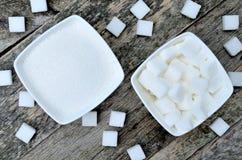 Sugar in ceramic bowl Royalty Free Stock Photo