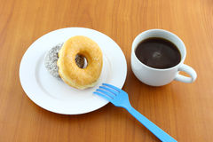 Sugar and chocolate donut Royalty Free Stock Image