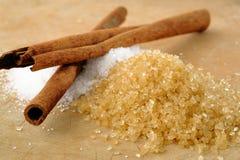 Sugar and cinnamon Stock Images