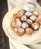 Sugar and cinnamon fritters Royalty Free Stock Photography