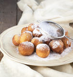 Sugar and cinnamon fritters Royalty Free Stock Images