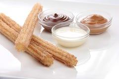 Sugar Cinnamon Spanish Churro royalty-vrije stock afbeelding