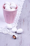 Sugar coated almond candy Royalty Free Stock Image