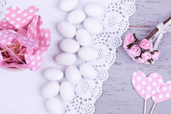 Sugar coated almond candy Royalty Free Stock Photos