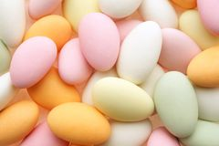 Sweet Almonds. Sugar coated almonds in pastel colors Royalty Free Stock Photo
