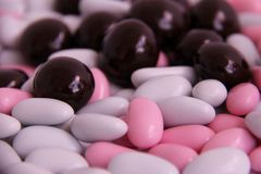 Sugar Coated Almonds Stock Photo