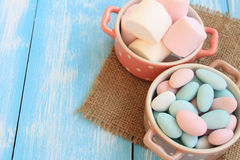 Sugar Coated Candy and Marshmallows Royalty Free Stock Image