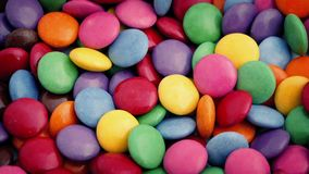 Sugar Coated Chocolate Candies Rotating stock video