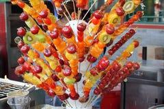 Sugar coated fruits. Beijing street snacks - sugar coated fruits Royalty Free Stock Photography