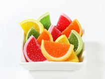 Sugar coated jelly candy Royalty Free Stock Photo