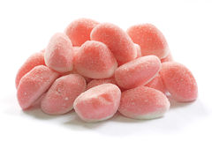 Sugar Coated Pink Gummies Royalty Free Stock Images
