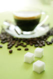 Sugar with coffee Stock Photos
