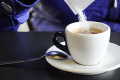 Sugar in a coffee cup Royalty Free Stock Photo