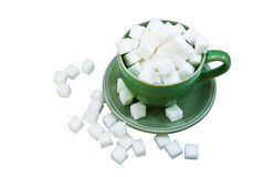 Sugar in coffee cup Royalty Free Stock Images