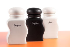 Sugar, Coffee, Tea b&w Royalty Free Stock Image