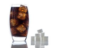 Sugar in cola Stock Photography