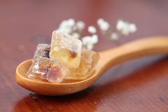Sugar collection - brown candies Royalty Free Stock Photo