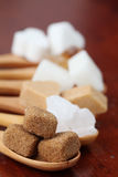 Sugar collection - various sugar cubes and candies Royalty Free Stock Photography