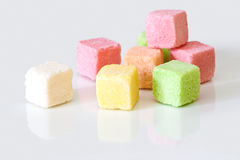 Sugar colored cubes. Stock Photography