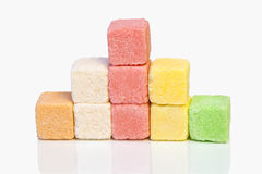 Sugar colored cubes. Royalty Free Stock Photos
