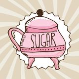 Sugar container Royalty Free Stock Images