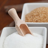 Sugar in containers Stock Image