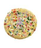 Sugar Cookie With Colorful Sprinkles Imágenes de archivo libres de regalías
