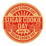 Sugar Cookie Day, le 9 juillet Images stock