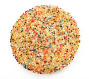 Sugar Cookie With Sprinkles Stock Photos