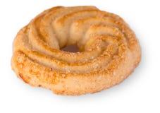 Sugar Cookie With Sprinkles Isolated en blanco Fotos de archivo libres de regalías