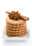 Sugar cookies with an anise and cinnamon Stock Image