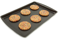 Sugar Cookies On Baking Sheet Royalty Free Stock Images