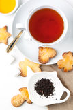 Sugar cookies with black tea Stock Images