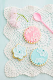 Sugar cookies. With brush embroidery Stock Images