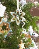 Sugar cookies on Christmas tree Stock Images
