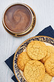 Sugar Cookies With Coffee antiquato fotografie stock libere da diritti