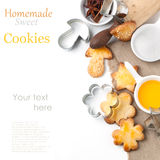 Sugar cookies with honey and sesame Royalty Free Stock Photo