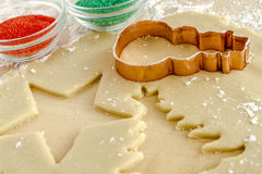 Sugar Cookies Ingredients and Cutters Royalty Free Stock Photo