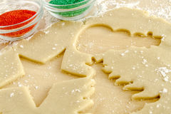 Sugar Cookies Ingredients and Cutters Stock Images