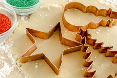 Sugar Cookies Ingredients and Cutters Stock Photos