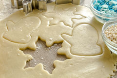 Sugar Cookies Ingredients e taglierine Fotografie Stock