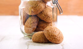 Sugar cookies in a jar Royalty Free Stock Photo