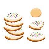 Sugar Cookies med stänk vektor illustrationer